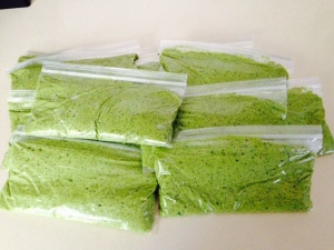bag into individual baggies - approx 1/2 cup each